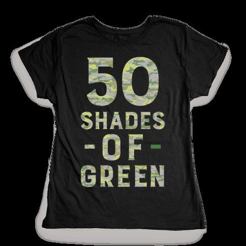 50 Shades of Green Womens T-Shirt