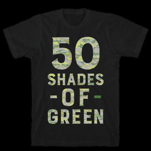 50 Shades of Green Mens T-Shirt