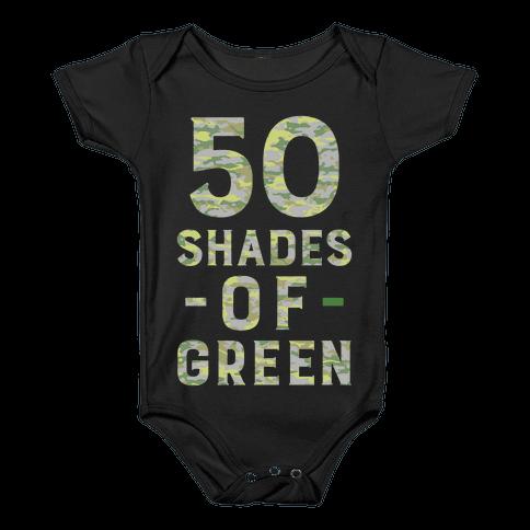 50 Shades of Green Baby Onesy