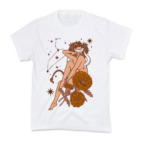Zodiac Pinup Leo Kids T-Shirt