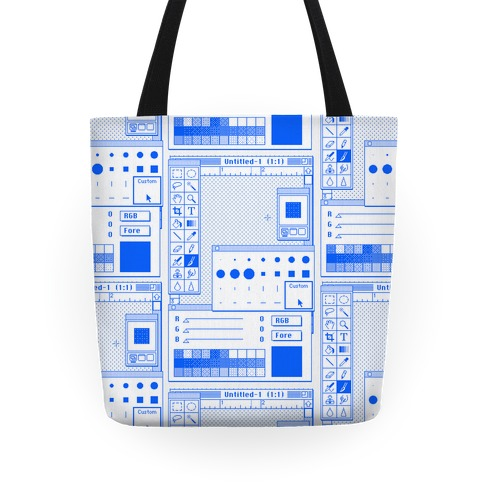 Photoshop Pixel Tools Tote