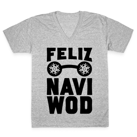 Feliz Navi-WOD V-Neck Tee Shirt