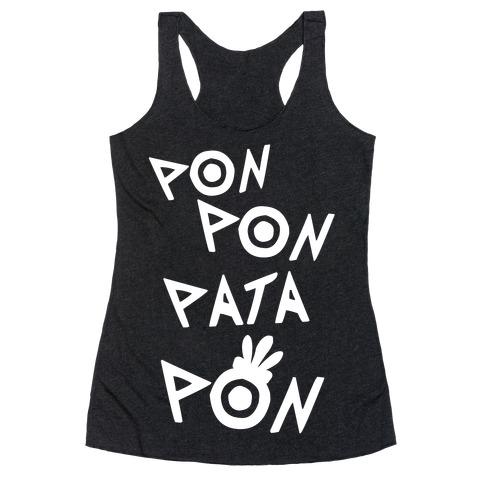 Pon Pon Pata Pon Racerback Tank Top