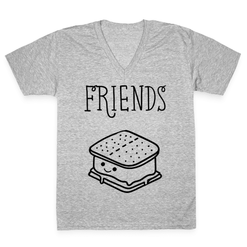 Best Friends Campfire 2 V-Neck Tee Shirt
