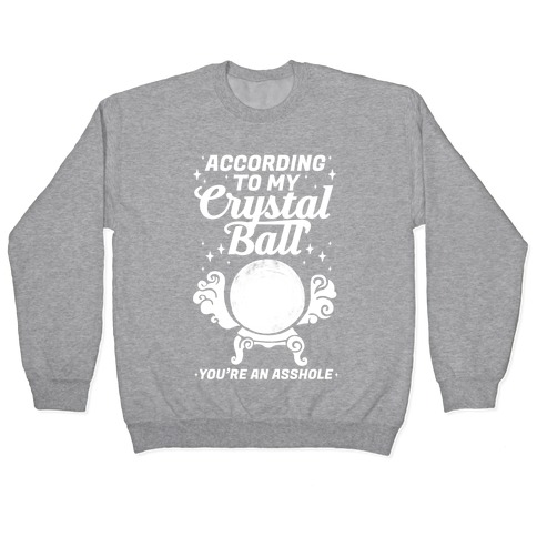 According To My Crystal Ball You're An Asshole Pullover
