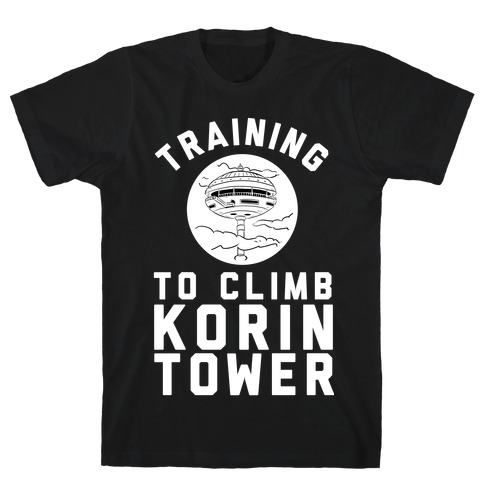 Training To Climb Korin Tower T-Shirt