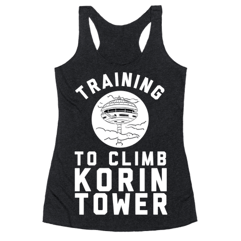 Training To Climb Korin Tower Racerback Tank Top