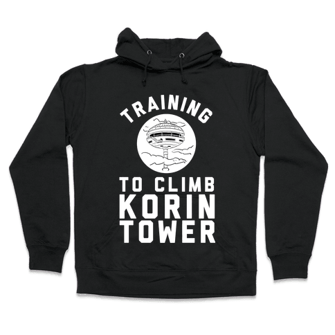 Training To Climb Korin Tower Hooded Sweatshirt