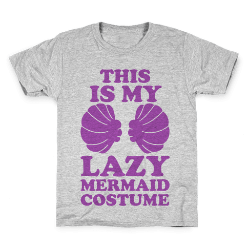 This Is My Lazy Mermaid Costume Kids T-Shirt