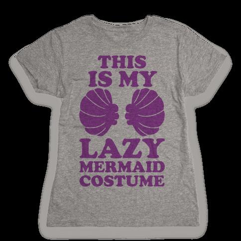 This Is My Lazy Mermaid Costume Womens T-Shirt