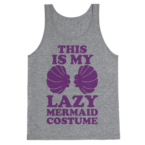 This Is My Lazy Mermaid Costume Tank Top