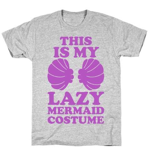 This Is My Lazy Mermaid Costume T-Shirt