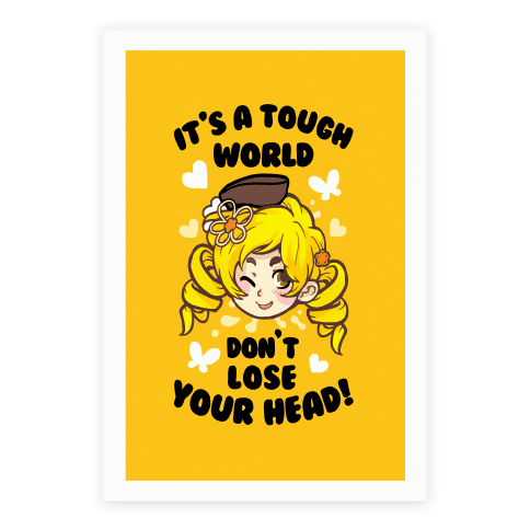 IT'S A TOUGH WORLD DON'T LOSE YOUR HEAD Poster