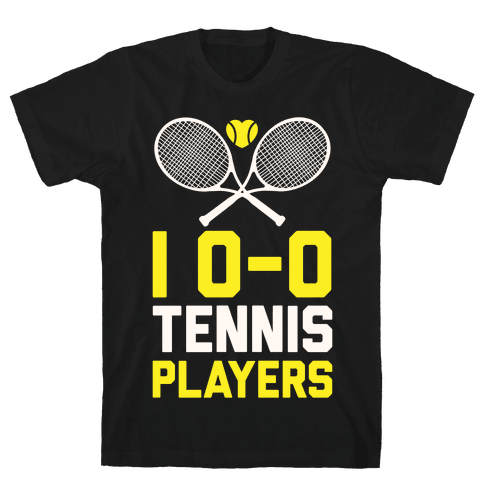 I Love Tennis Players Mens T-Shirt