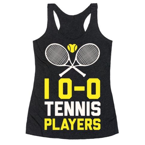 I Love Tennis Players Racerback Tank Top