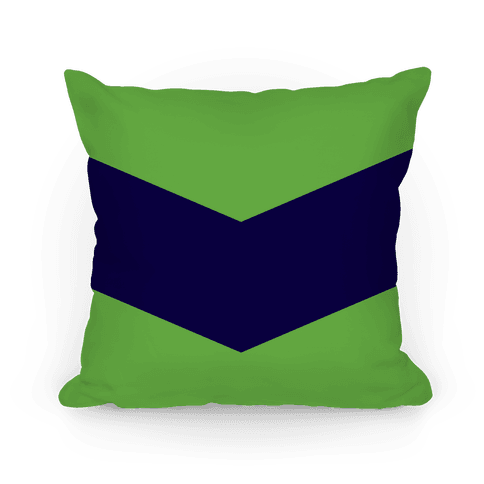 Navy and Green Chevron Pillow Pillow