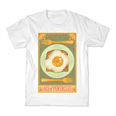 Tarot Card: The Egg Of Pentacles Kids T-Shirt