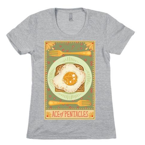 Tarot Card: The Egg Of Pentacles Womens T-Shirt