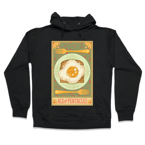 Tarot Card: The Egg Of Pentacles Hooded Sweatshirt