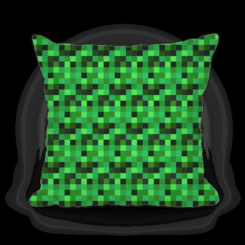 Green Gamer Pixel Pattern