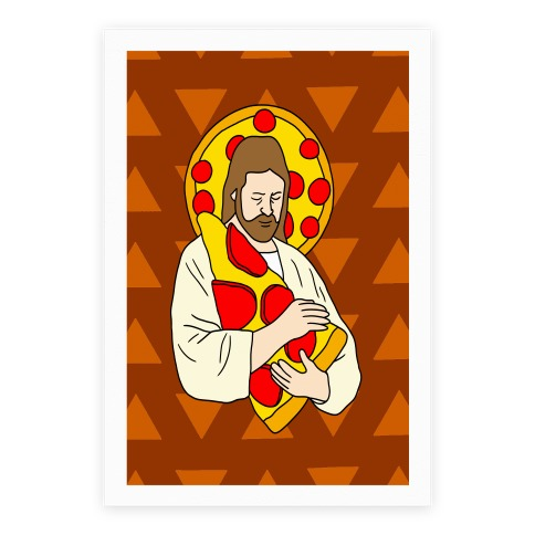 Pizza Jesus Poster