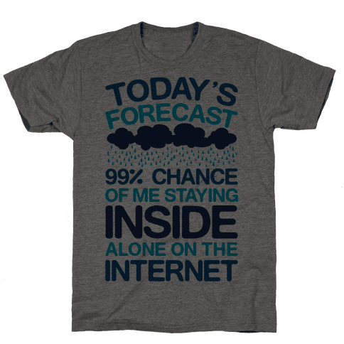 Today's Forecast: 99% Chance Of Me Staying Inside Alone On The Internet