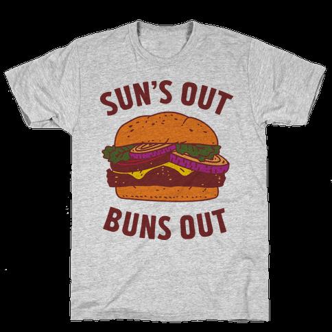 Sun's Out Buns Out Mens T-Shirt