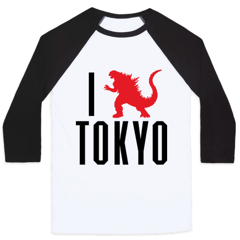 I Love Tokyo (Godzilla) Baseball Tee