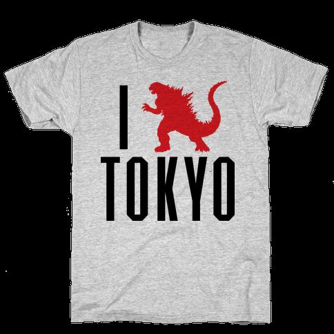 I Love Tokyo (Godzilla) Mens T-Shirt
