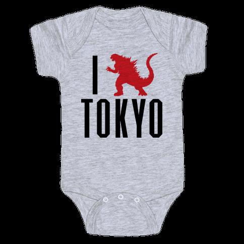 I Love Tokyo (Godzilla) Baby Onesy