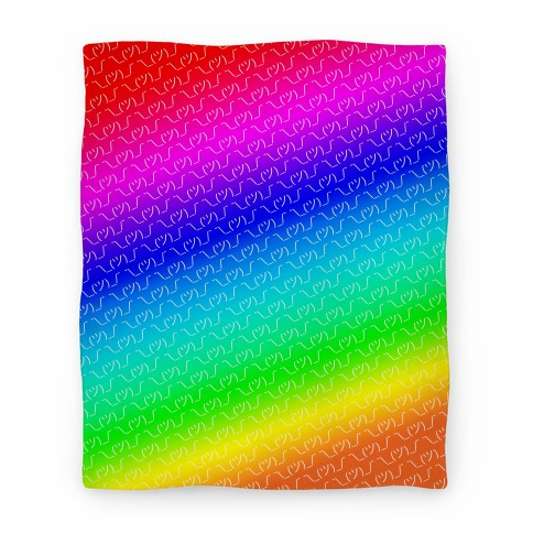 Emoticon Shrugs Rainbow Gradient Blanket