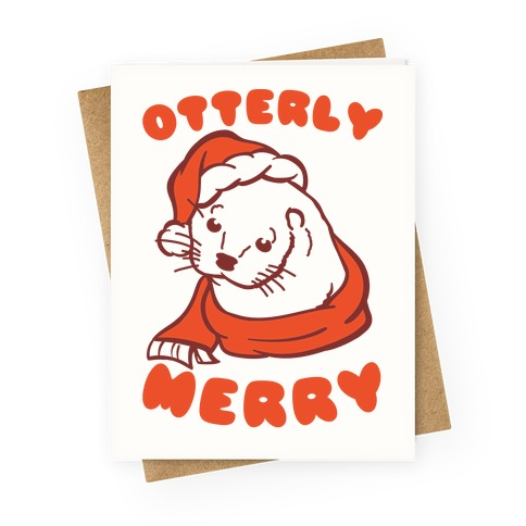 Otterly Merry Greeting Card
