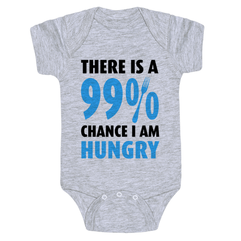 There is a 99% Chance I am Hungry Baby Onesy
