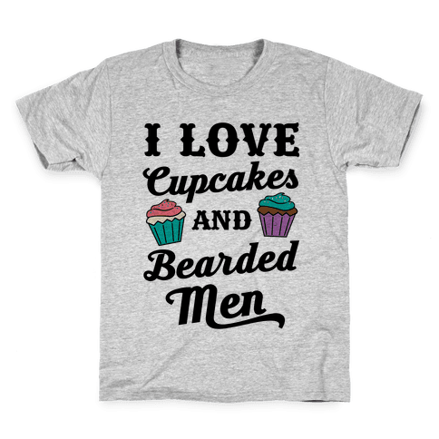 I Love Cupcakes and Bearded Men Kids T-Shirt