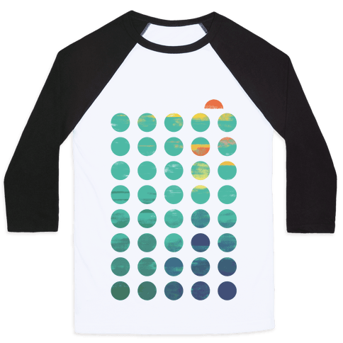 Circles of Summer Baseball Tee