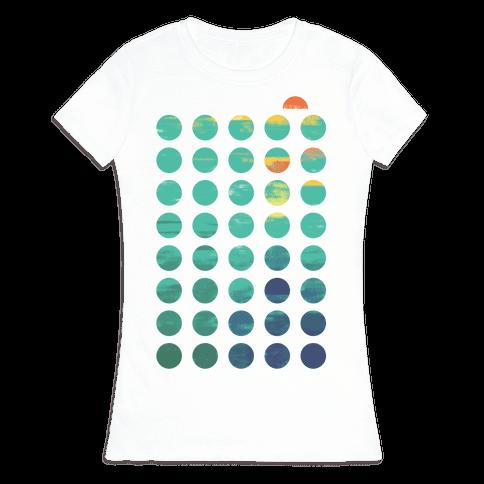 Circles of Summer Womens T-Shirt