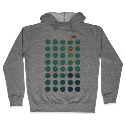 Circles of Summer Hooded Sweatshirt