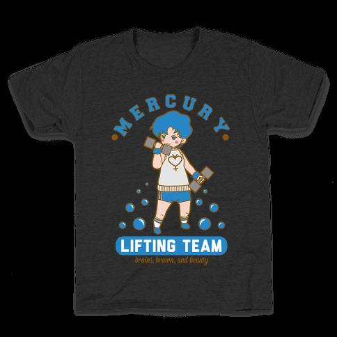 Mercury Lifting Team Parody White Kids T-Shirt