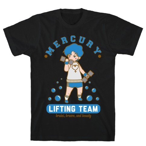 Mercury Lifting Team Parody White T-Shirt