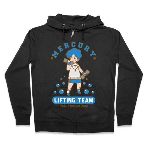 Mercury Lifting Team Parody White Zip Hoodie