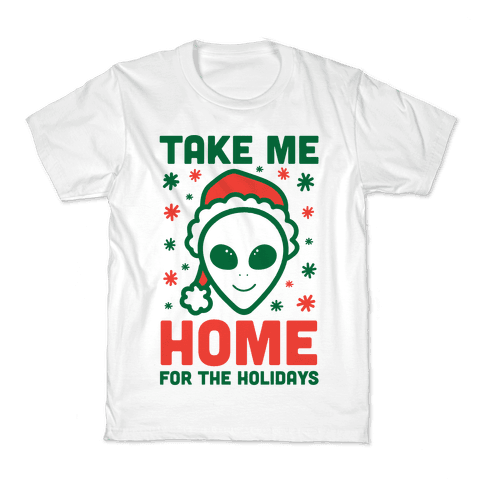 Take Me Home For The Holidays Kids T-Shirt