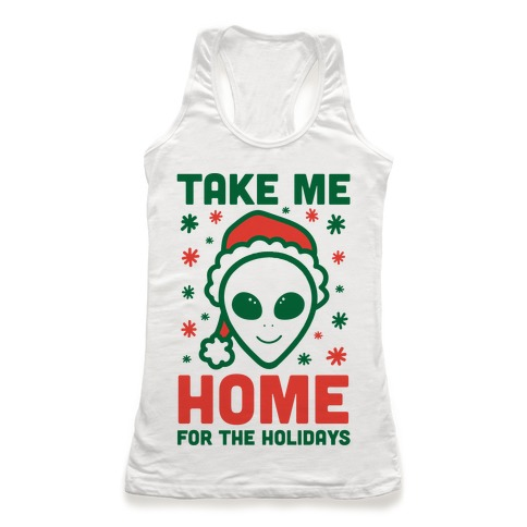 Take Me Home For The Holidays Racerback Tank Top