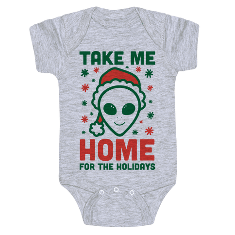 Take Me Home For The Holidays Baby Onesy