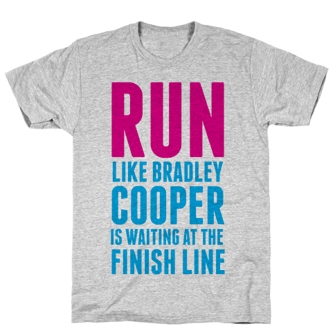 Run Like Bradley Cooper Mens T-Shirt