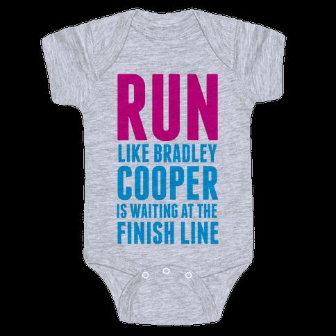 Run Like Bradley Cooper Baby Onesy