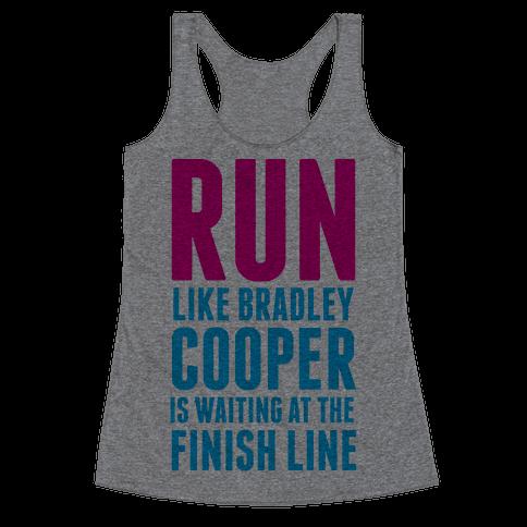 Run Like Bradley Cooper Racerback Tank Top