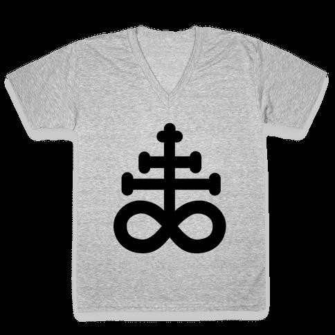 Leviathan Cross V-Neck Tee Shirt