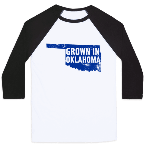 Grown in Oklahoma Baseball Tee