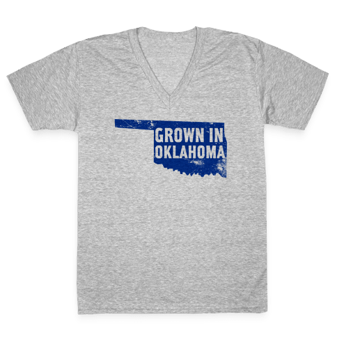Grown in Oklahoma V-Neck Tee Shirt