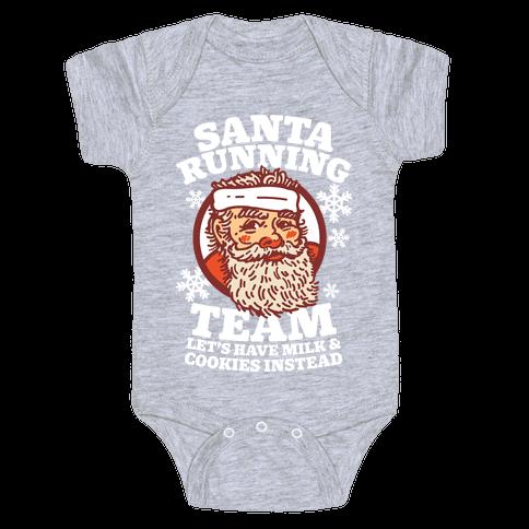 Santa Running Team Baby Onesy